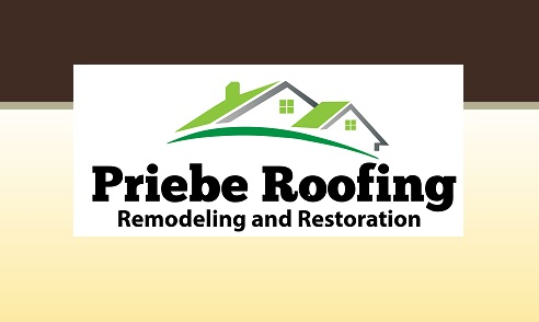 Priebe Roofing and Restoration.